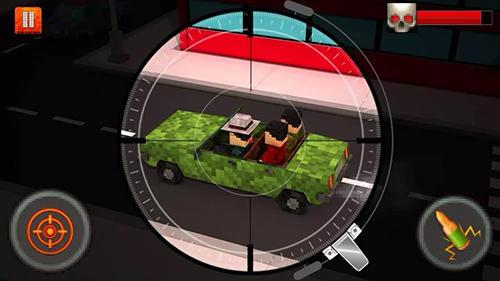 Actionspiele Blocky city sniper 3D für das Smartphone