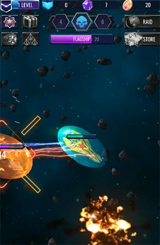 Deep raid: Idle RPG space ship battles Screenshot