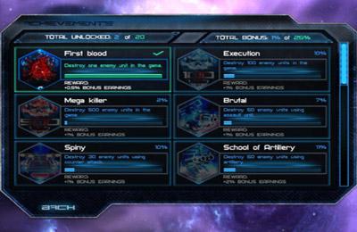 Screenshot Kosmische Schlachten auf dem iPhone