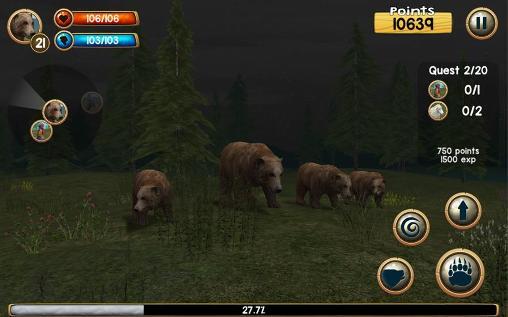 Simulation Wild bear simulator 3D pour smartphone
