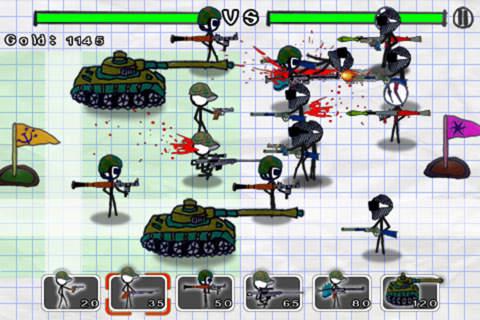 Screenshot Gekritzel Krieg: Moderne Kriegsführung auf dem iPhone