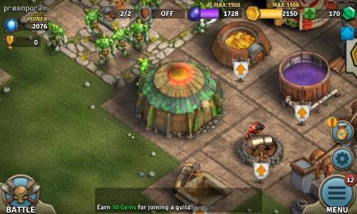 Online Heroes of war: Orcs vs knights for smartphone