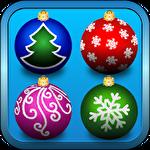 Christmas tree toys icon