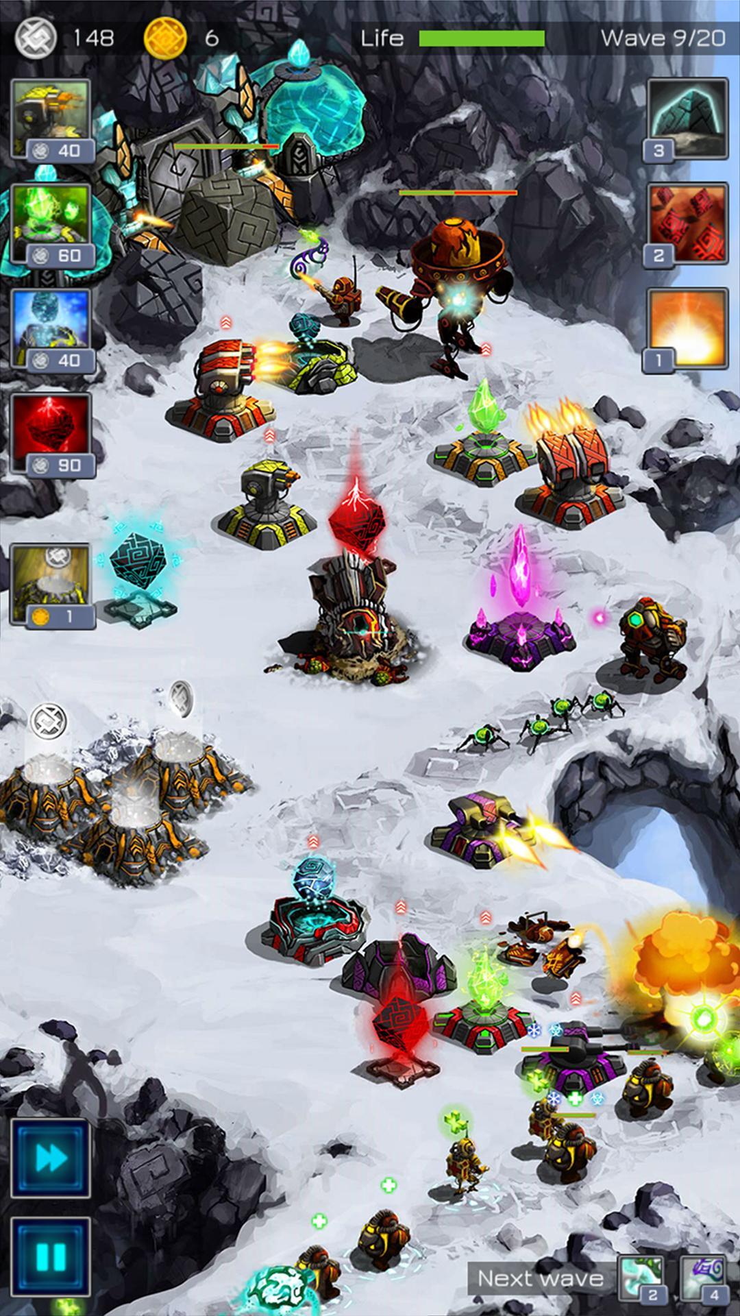 Ancient Planet Tower Defense Offline captura de tela 1