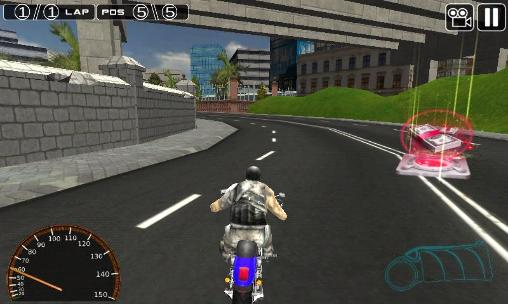 Moto racing 3D captura de tela 1