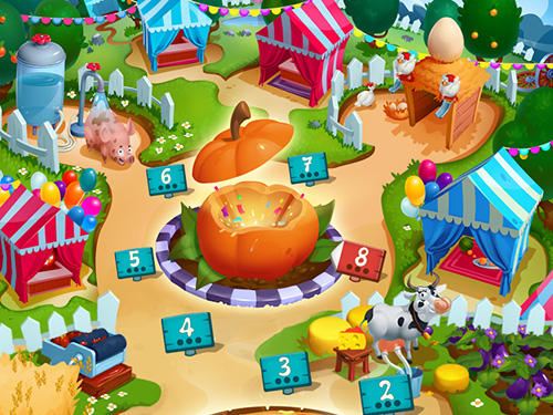 Arcade-Spiele Happy seasons: Match and farm für das Smartphone