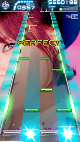 Taptube: Music video rhythm game für Android