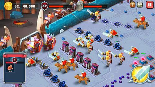 Strategie Castle defense: Soldier tower defense strategy game für das Smartphone