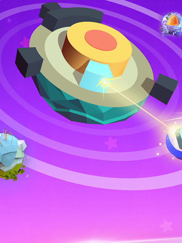 Plant planet 3D: Eliminate blocks and shoot energy auf Deutsch