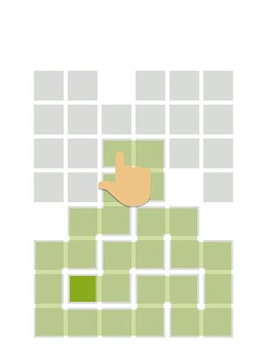 Logik Fill: One-line puzzle game für das Smartphone