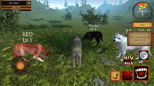 Wolf simulator evolution for Android