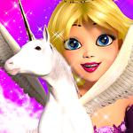 Princess unicorn: Sky world run icône