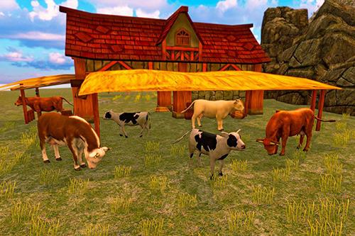 Simulator-Spiele Bull family simulator: Wild knack für das Smartphone