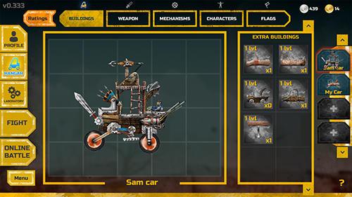 Weird games War cars in English