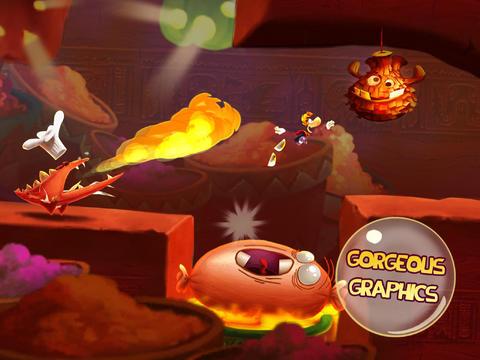 Arcade-Spiele: Lade Rayman beim Fest auf dein Handy herunter