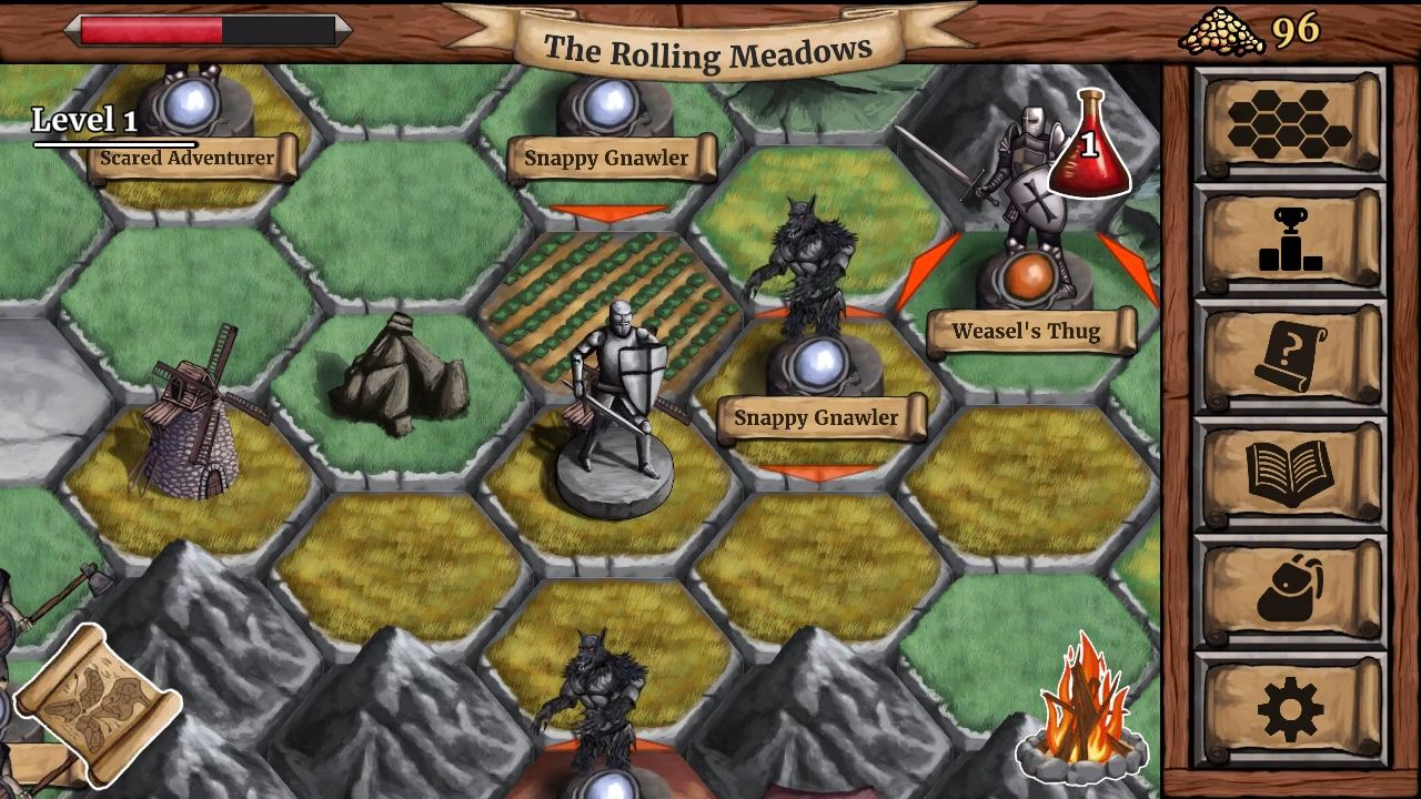 The Paladin's Story: Melee & Text RPG (Offline) スクリーンショット1