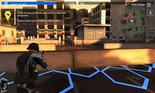 Third-person shooter Rivals at war: Firefight in English