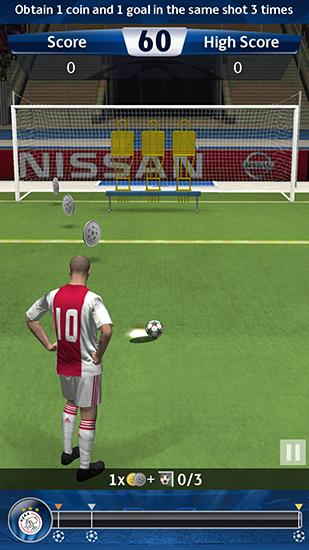 UEFA champions league: PES flick. Pro evolution soccer screenshot 1