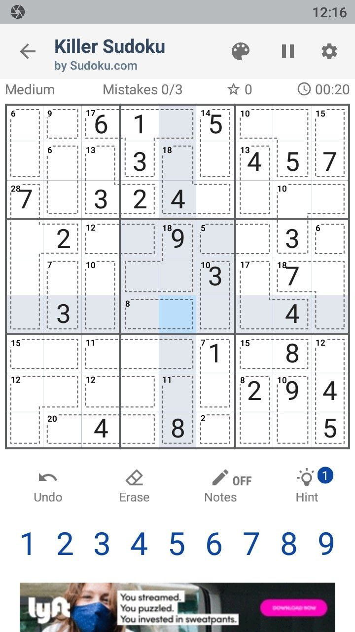 Killer Sudoku by Sudoku.com - Free Number Puzzle скріншот 1