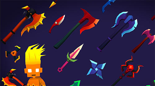 Throw io: Online axes, knives and shurikens battles für Android