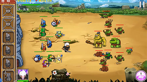 Frontier warriors. Castle defense: Grow army auf Deutsch