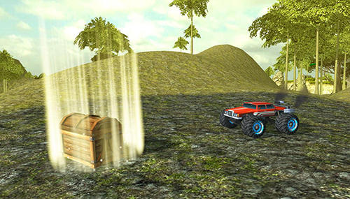 Rennspiele Angry truck canyon hill race für das Smartphone