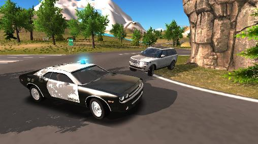 Police car driving offroad captura de pantalla 1