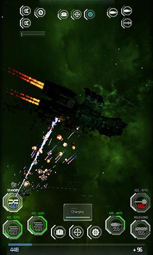 Strategie Gargantua: Alpha. Spaceship duel für das Smartphone