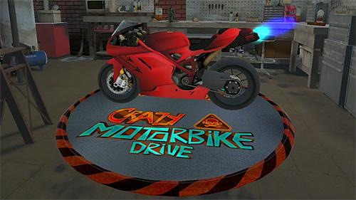 Crazy motorbike drive Symbol