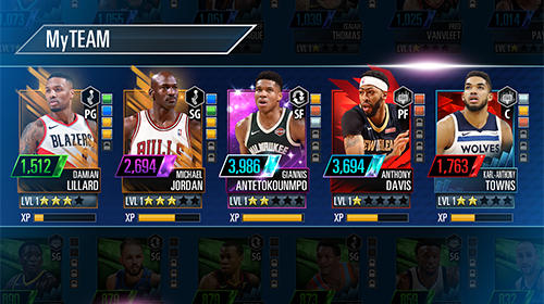 NBA 2K Mobile basketball screenshots