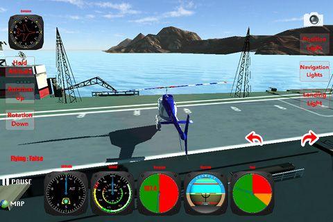 Hélicoptère: Simulateur des vols 3D en russe