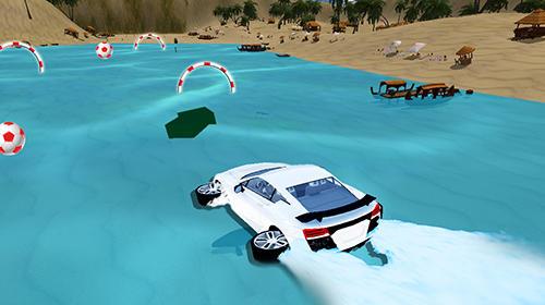 Water surfer car driving auf Deutsch