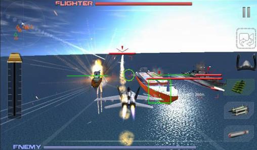 Simulator-Spiele F18 air fighter attack für das Smartphone