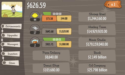 Arcades Adventure capitalist pour smartphone