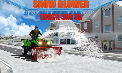 Snow blower: Truck sim 3D Screenshot