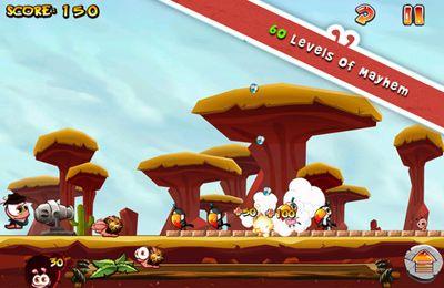 Arcade-Spiele: Lade Würmer gegen Vögel auf dein Handy herunter