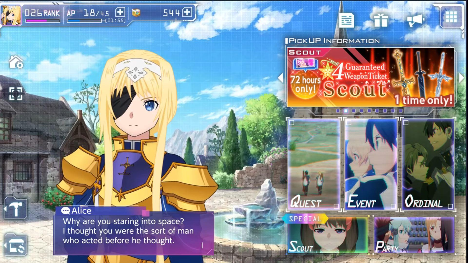 Sword Art Online Alicization Rising Steel capture d'écran 1