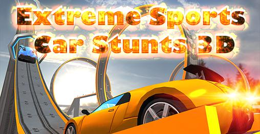 Extreme sports car stunts 3D Symbol