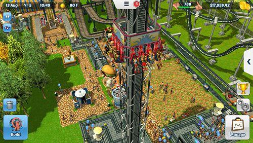 Simulator-Spiele: Lade Roller Coaster Tycoon 3 auf dein Handy herunter