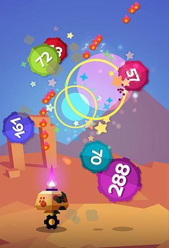 Explosão de bolas de cor para iPhone