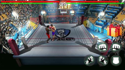 Kampfspiele King of boxing 3D für das Smartphone