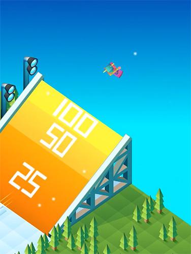 de pixel Blocky snowboarding en français