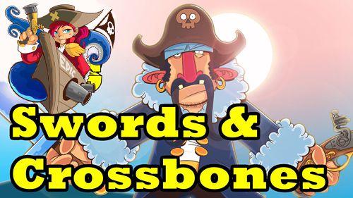 logo Schwerter und gekreuzte Knochen. Eine epische Piratengeschichte
