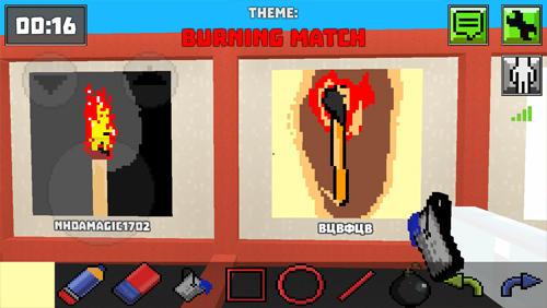 アンドロイド用ゲーム ピクセル・ペインター: ドローイング・オンライン のスクリーンショット