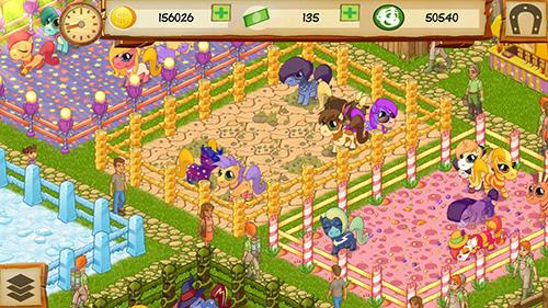 Simulator-Spiele Pony park tycoon für das Smartphone