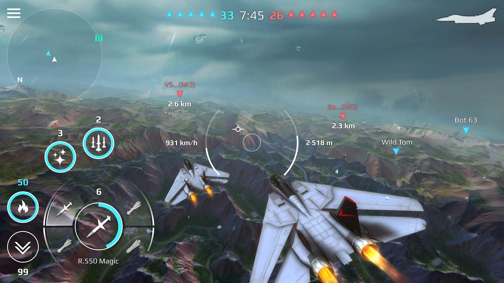 Sky Combat: war planes online simulator PVP screenshot 1