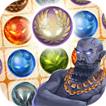 Wizard and genie: Match 3 stars Symbol