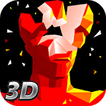 Red superhot shooter 3D icono