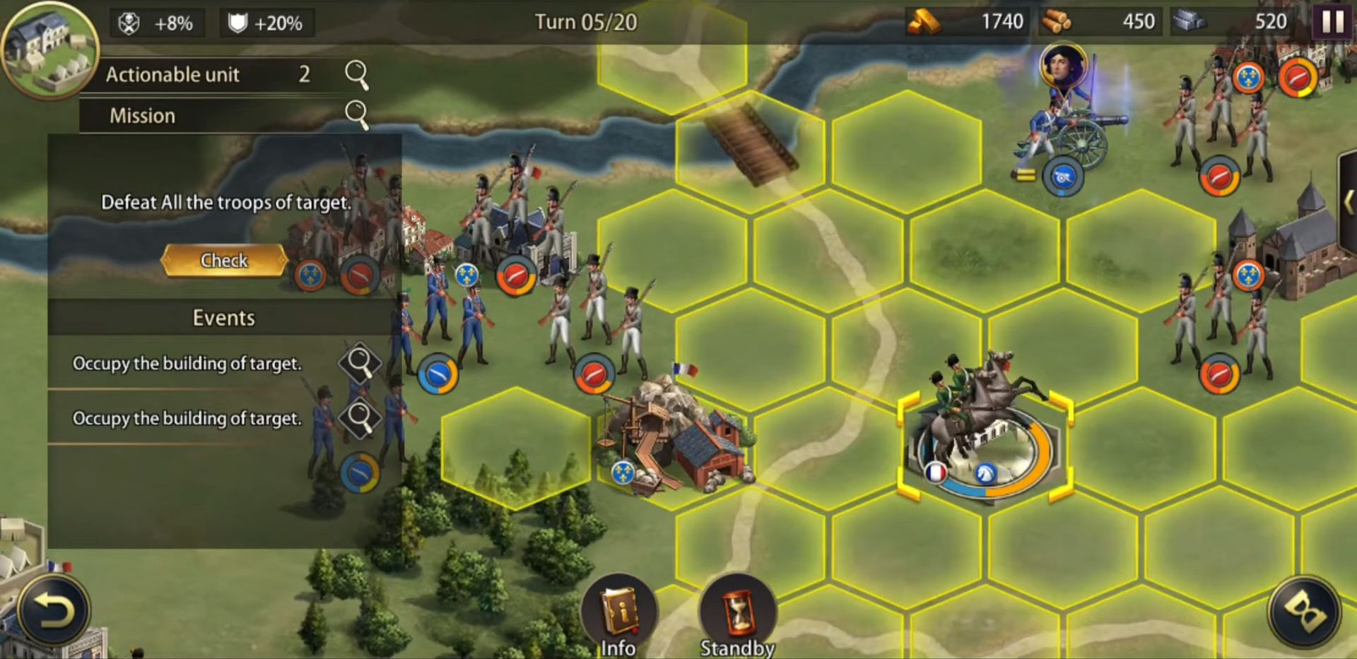 Grand War: Napoleon, War & Strategy Games captura de pantalla 1