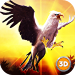 Hippogriff bird simulator 3D icon